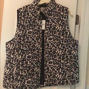 LOFT animal print puffer vest